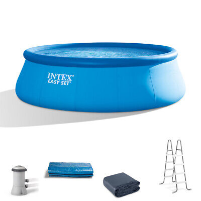 Intex 15 x 42 Easy Set Above Ground Swimming Pool Package 1000 GPH Pump 26165EH