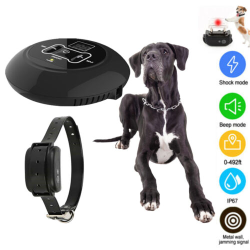 For 1 Dog Wireless Electric Dog Fence Containment System Sho
