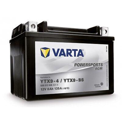 Daytona 3 Scooter (Varta YTX9-BS 508012 Motorradbatterie-Powersports AGM (LF)4Y TX9-BS 12V 8AH 135A)