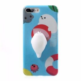 iPhone 6/6+ 7/7+ 3D Squishy Seal Beach Case
