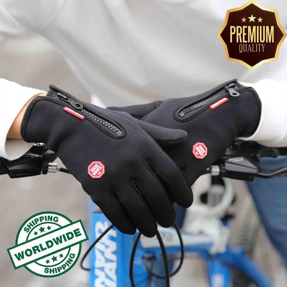 winter men women cycling bike gloves full
