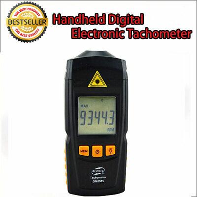 Handheld Digital Tachometer Laser Rpm Tach Meter Motor Speed Gauge Au