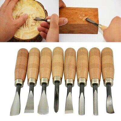 8 Stücke Hand Holzschnitzerei Werkzeuge Chip Detail Meißel Messer Set