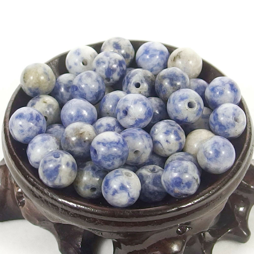 Bulk Gemstones I natural spacer stone beads 4mm 6mm 8mm 10mm 12mm jewelry design blue vein jasper