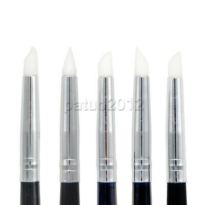 5pcs Dental Adhesive Composite Resin Cement Porcelain Teeth Silicone Brush Pen