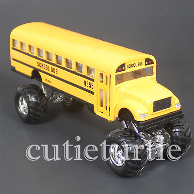 Big Foot Monster Truck Long School Bus 4X4 8 25  Yellow 9880