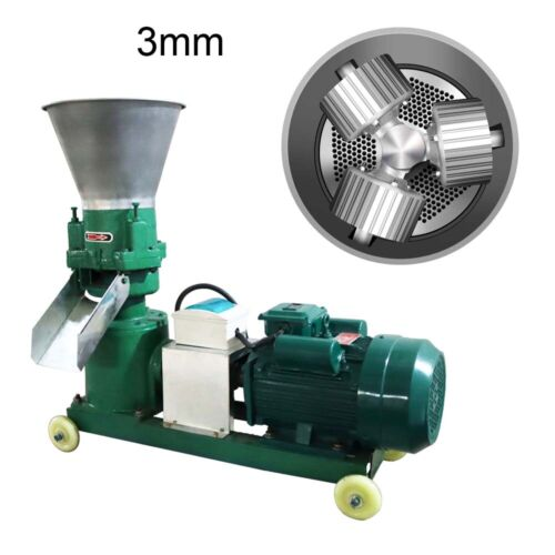 3mm Animal Feed Pellet Mill Machine Upgrade Compression Roller Capacity 330lbs