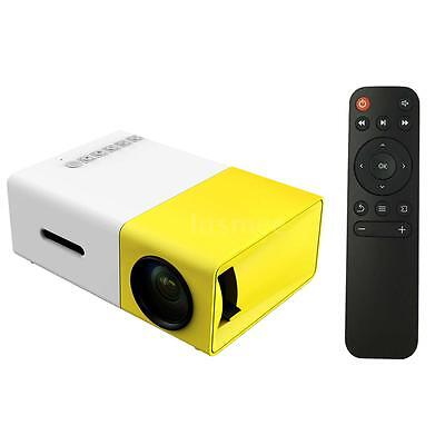 Mini Portable LCD Multimedia LED Projector Full HD 1080P USB HD /MI AV TV VGA SD