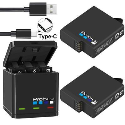 GoPro Hero 7 6 5 Black Triple Battery Charger Camera HD Portable