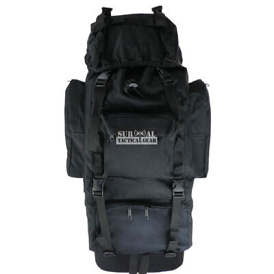 Tactical Military Camo Bag Molle Hunting 100L Waterproof Outdoor Travel Backpack