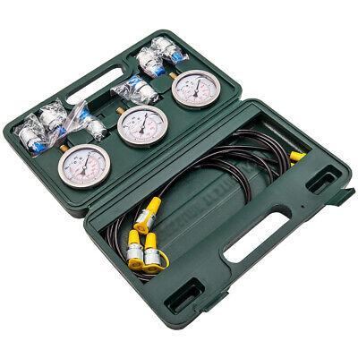 Diagnostic Pressure Tester Gauge Couplings Hydraulic Hose Kit Excavator M10x1