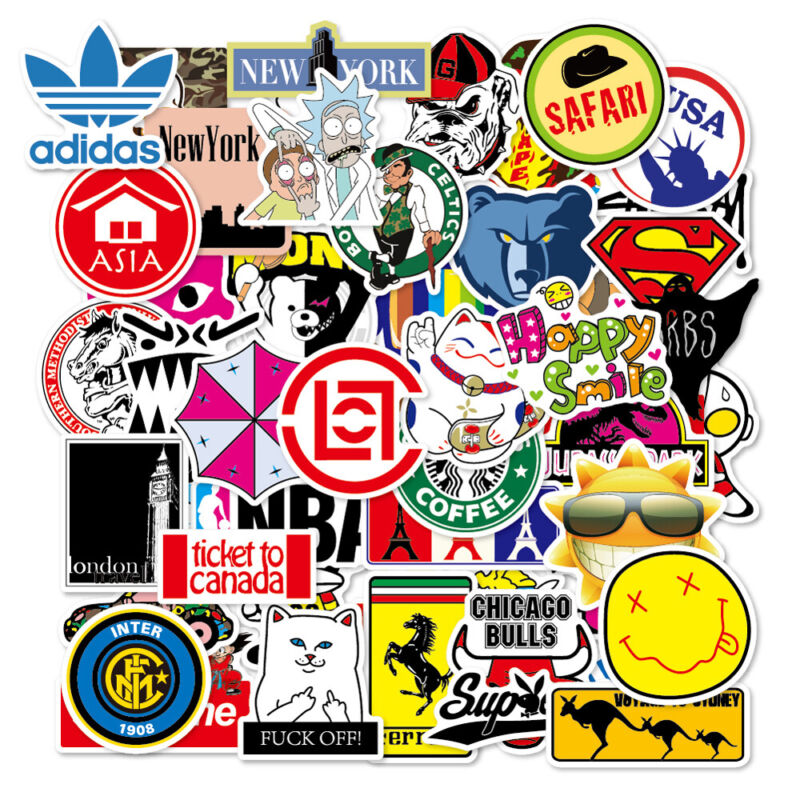 100 Travel Skateboard Stickers bomb Vinyl Laptop Luggage Decals Dope Sticker Lot