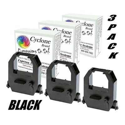 3-pack Amano Pix3000 Pix-3000x Ce-315151 Compatible Ribbon Cartridges Black