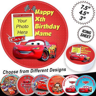 Cars Lightning McQueen Birthday Cake Topper Personalised