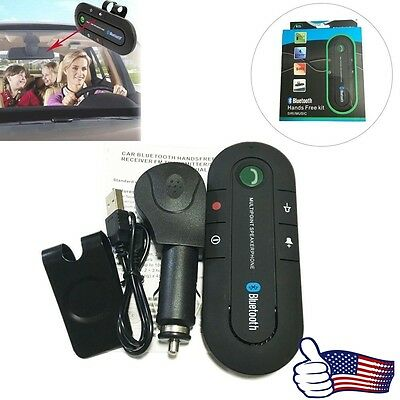 Hot Wireless Bluetooth Hands Free Car Kit Speakerphone Speaker Phone Visor Clip
