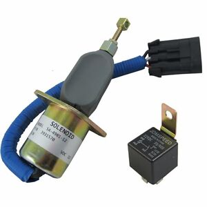 Fuel Shut Off Solenoid 5016244AA with Relay For 94-98 5.9L Dodge Diesel Cummins