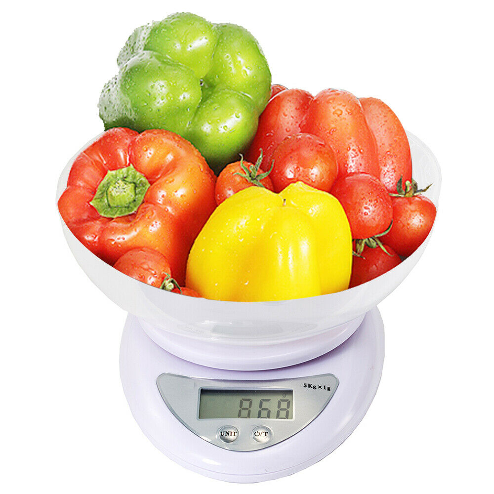 Digital Electronic Kitchen Scale Food Scale with Safety Bowl