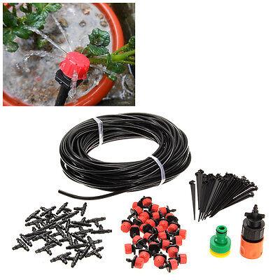 25M Mikro-Bewässerungssystem Automatisch Pflanzen-Tropf-Bewässerung + 30 Tropfer