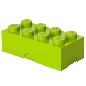 LEGO LUNCH BOX STORAGE BRICK CHILDRENS - LIME GREEN