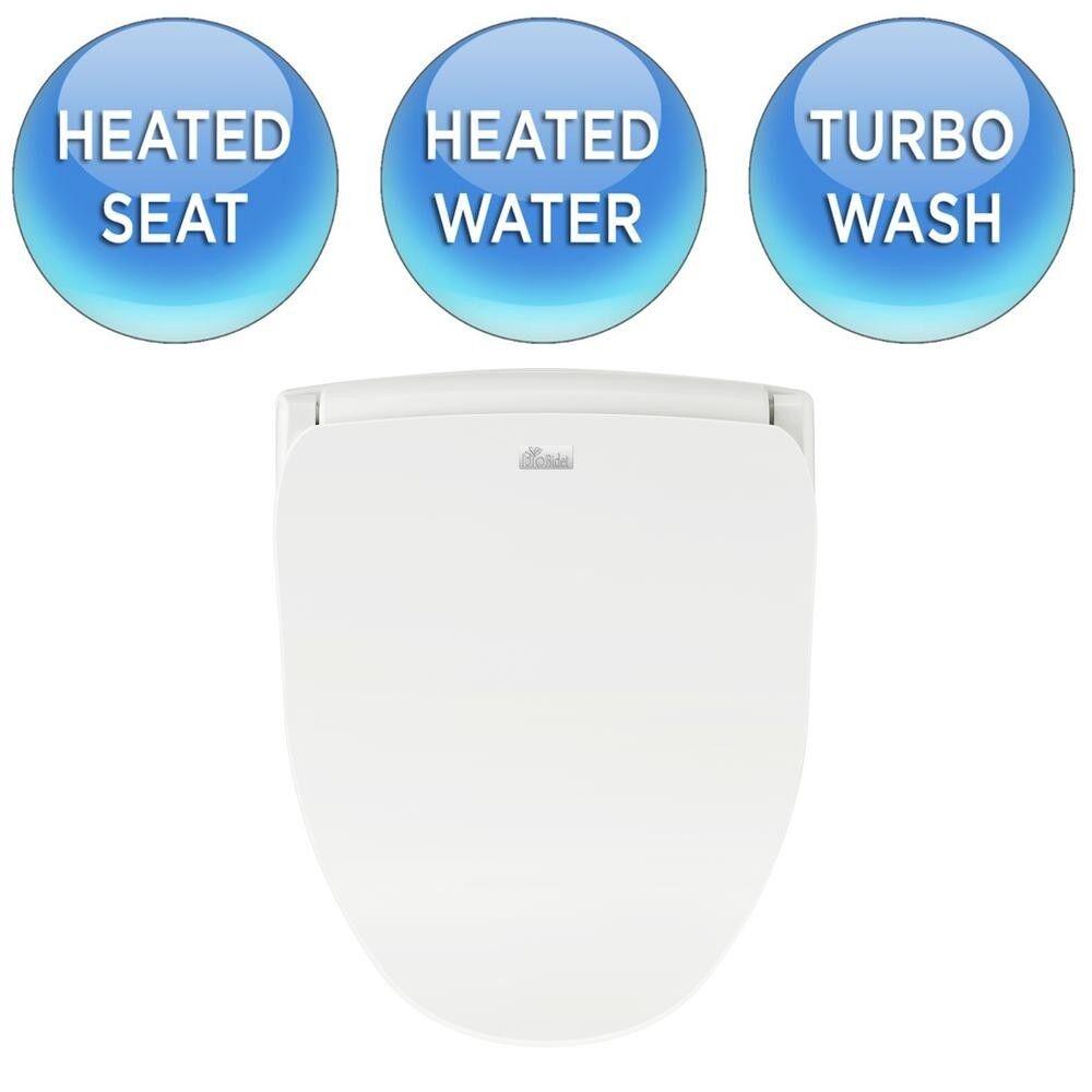 Electric Bidet Toilet Seat Elongated Sprayer Heated Washer W