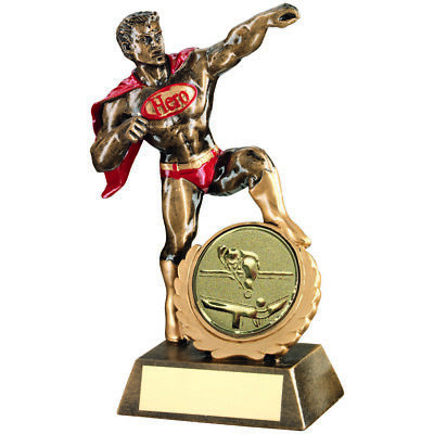 Snooker/Pool Super Hero Cape Award Fun Novelty Gift Sport Trophy FREE Engraving