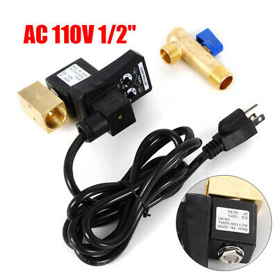 New Ac 110v 12 Electronic Timed 2 Way Air Compressor Gas Tank Auto Drain Valve
