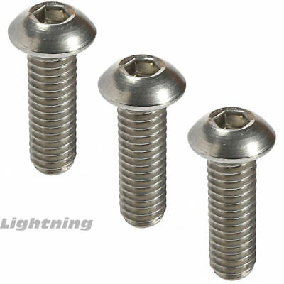 38-16 Button Head Socket Cap Screws Fully Threaded 18-8 Stainless Steel Qty 10