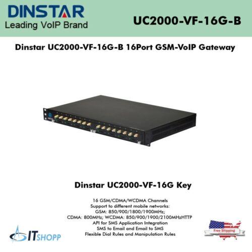 Dinstar UC2000-VF-16G-B 16Port GSM-VoIP Gateway