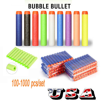 100/200/400/500/1000Pcs Bullet Darts  For NERF N-Strike Refill Kids Toy Blasters
