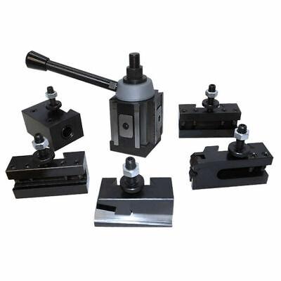 T0201 6-12 Wedge Type Piston Quick Change Tool Post Set Fr Aloris 100 Axa