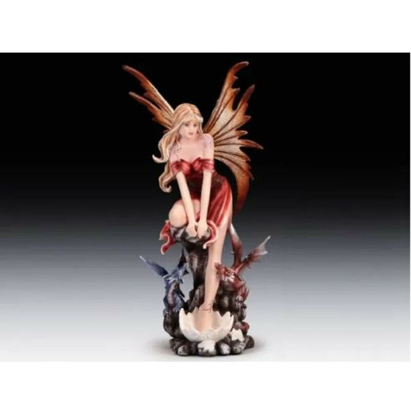 Fairy With Two Dragons Figurine New