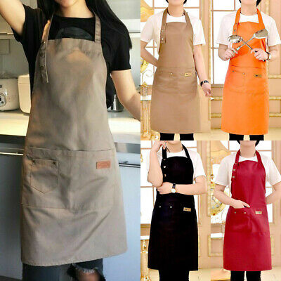 US Denim Canvas Pocket Apron Adjustable Baking Chefs Kitchen Coffee Cooking BBQ New Bbq Apron