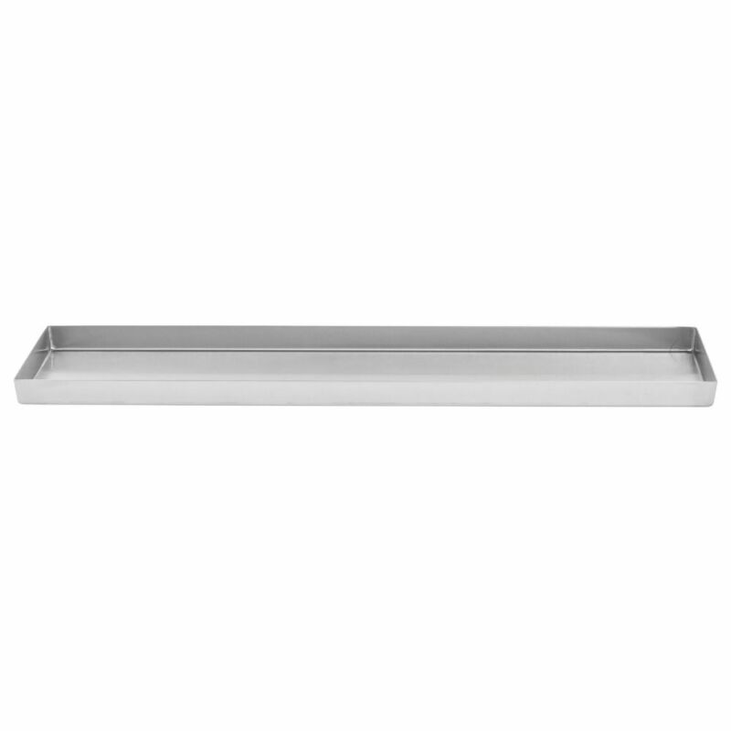 Food Merchandsing Pans With Tapered Corners Stainless Steel Deli Display Pan -