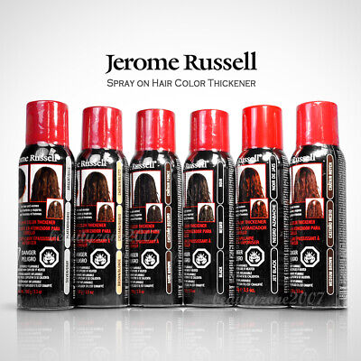 Jerome Russell Spray on Hair Color Thickener 3.5 oz (Choose from 6 colors)](Hair Color Sprays)