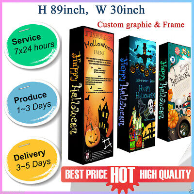 Portable Custom Pop Up Stand Trade Show Display Backdrop Wall Booth With Print