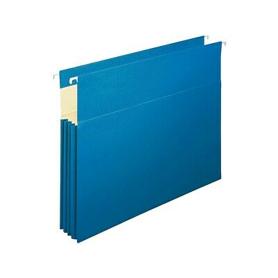 Staples Hanging File Folders 3.5 Expansion Letter Size Blue 4pk 781609