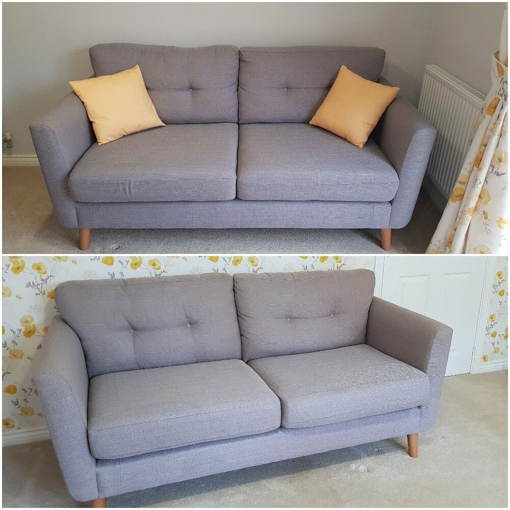 Two Nearly New Cur Season Sparkle Fabb Sofas