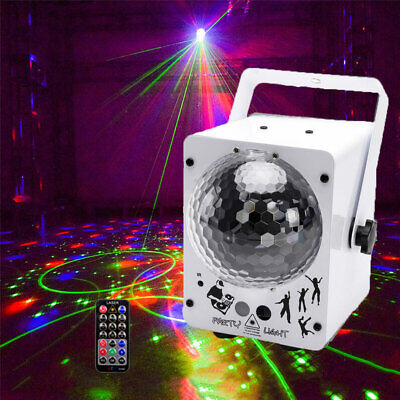 Remote Stage Light 60-IN-1 LED RG Laser Magic Ball Club Pattern Disco Party DJ