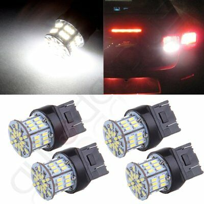 4X White 7443 7440 Turn signal LED Light Bulb 54SMD for Toyota/Honda/Acura/Scion