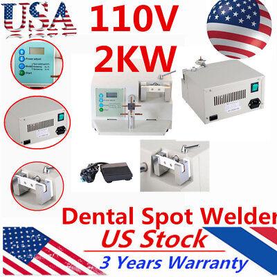 2kw Dental Lab Spot Welder Welding Machine Orthodontic Heat Treatment 110v