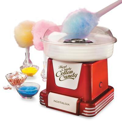 Electric Cotton Candy Maker Retro Red Machine Kit Store Sugar Free Kid Fun New