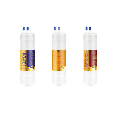 3EA Coway 1 micron Replacement Water Filter Set: CHP-250L / CHP-260L / CHP-270L