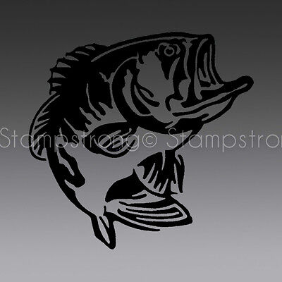 New Angler Fish (4 Inch tall BASS FISH Vinyl Decal Sticker Die Cut ANGLER HUNT)