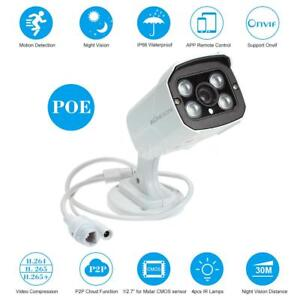 1080P 2MP Full HD POE CCTV IP Camera ONVIF Outdoor Night View Home Security H264