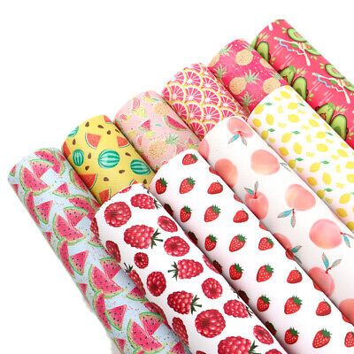 20*34 cm Summer Fruit Printed Faux Leather For Notebook Cover Single Pcs or Set](Summer Crafts For Kids)