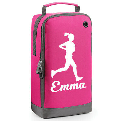 Girls Boot Bag (PERSONALISED RUNNING BOOT BAG Girls RUNNER GIRLS LADIES GYM ATHLETICS JOG Mens)