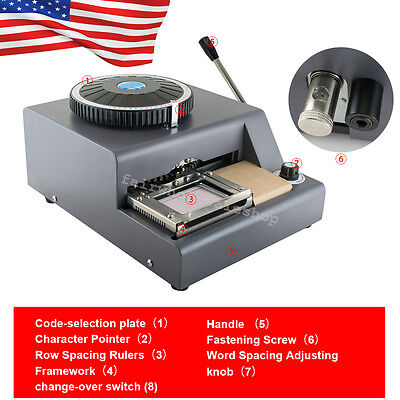 72-character Letter Manual Embosser Credit Id Vip Pvc Card Embossing Machine Usa