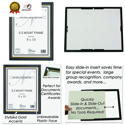 NuDell 8 x 10 Inches EZ Mount Document Frame 8-inch x 10-inc