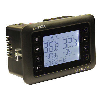 Lcd Smart Pid Temperature Humidity Controller Incubator Thermostat Humidifier