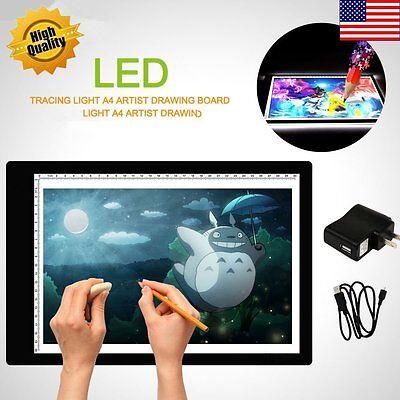 LED Tracing Light Box Board Art Tattoo A4 Drawing Pad Table Stencil Display HP